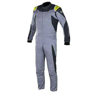 Alpinestars GP Race Boot Cut Suit 2 Layer FIA/SFI size 56 color Gray/Anthracite/Yellow Fluorescent