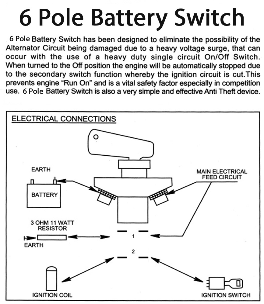 Battery Switch 6 Pole Cutoff Stable Energies