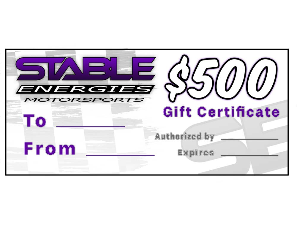 Stable Energies Motorsports Gift Certificate