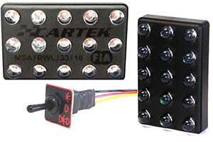 Cartek Rain Light FIA 3-Mode with Switch Horizontal